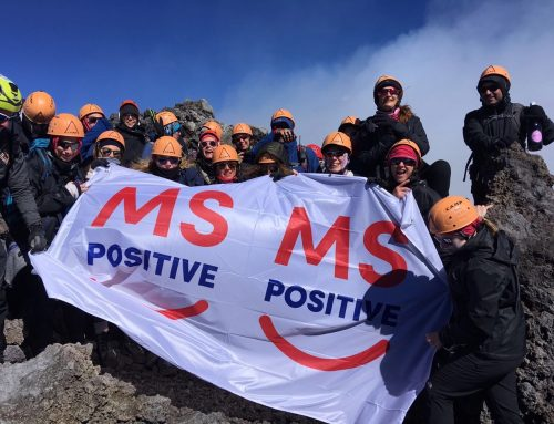MS Mum erupts to top of volcano to launch new charity